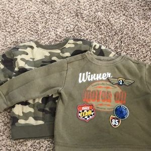 Euc 3t garanimals boys sweatshirts. Lot of 2